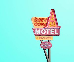 minimalist, pastel, and motel image