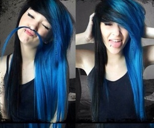 blue, color, and dye image
