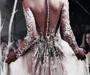 detail, gown, and runway image