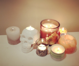 candle, skull, and photography image
