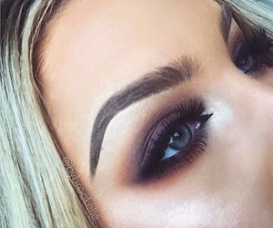 eyebrows, eyes, and makeup image