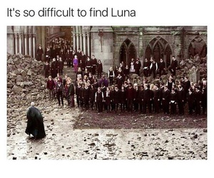 harry potter, funny, and luna lovegood image