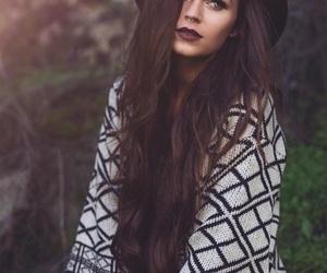 brown, dark hair, and fashion image