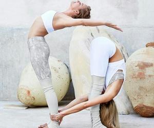 girl, pose, and workout image