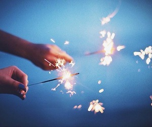 blue, fireworks, and light image