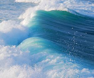 waves, ocean, and sea image