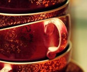 red, teacup, and cup image