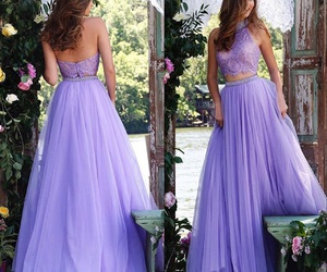 dress, purple, and Prom image