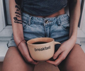 breakfast, drink, and cup image