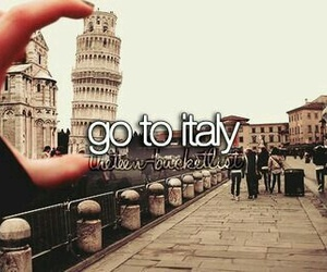 italy and bucket list image