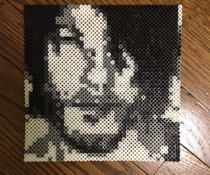 perler beads, the walking dead, and daryl image