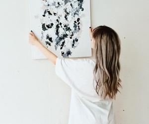 art and white image