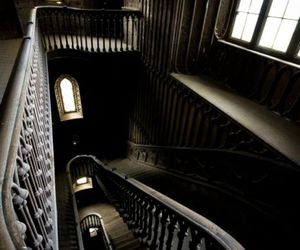 stairs, architecture, and dark image