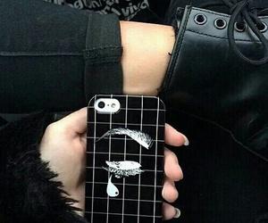 black, grunge, and iphone image