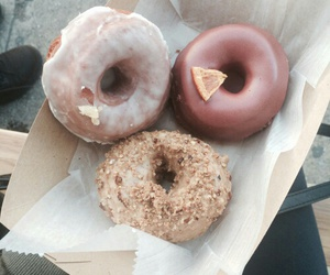 donut, rosa, and vintage image