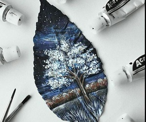 autumn, painting, and colourful image