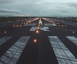 airport, light, and plane image