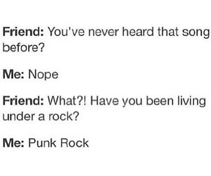 music, punk rock, and funny image