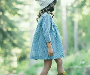 dress, little girl, and rain? image