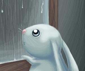 art, cartoon, and rabbit image