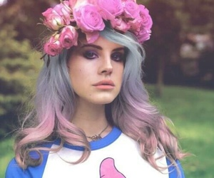 lana del rey, flowers, and hair image