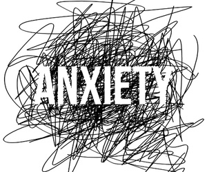 anxiety, black and white, and scary image