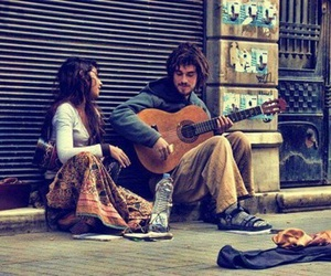music, guitar, and couple image