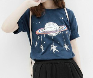 fashion, girl, and planet image