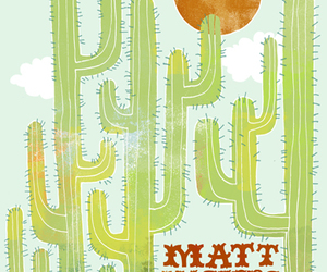cactus, desert, and drawing image