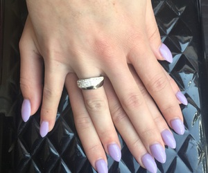 lilac, ring, and nails image