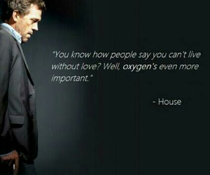 dr house, love, and quote image