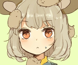 cute, anime, and mouse image