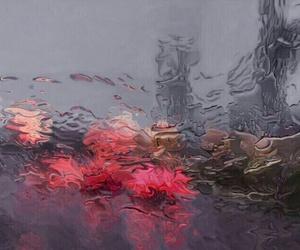 rain, light, and art image