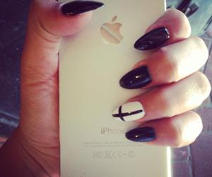 nails, girl, and cross image