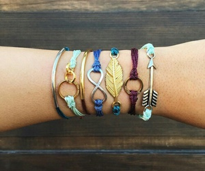 bracelet, girls, and cute image