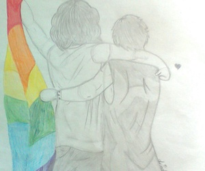 gay pride, rainbow, and larry stylinson image