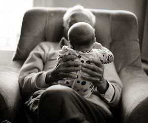 baby and grandfather image