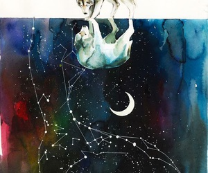lobo, wolf, and star image
