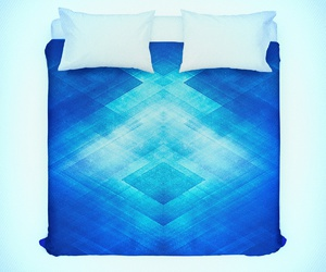 blue, pattern, and triangle image