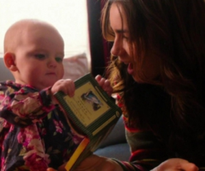 baby, rosie, and lily collins image