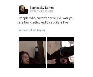 civil war, Marvel, and textpost image