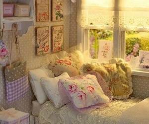 bedroom, vintage, and room image