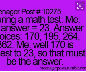 math, teenager post, and test image
