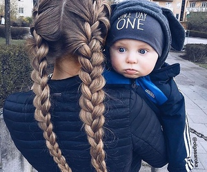 baby, fashion, and hair image