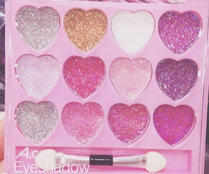pink, makeup, and glitter image