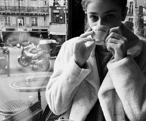 taylor hill, black and white, and model image