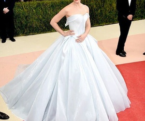 dress, claire danes, and met gala image