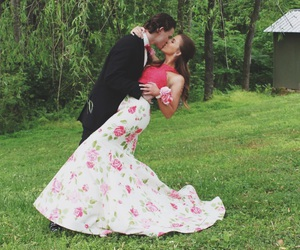 couple, cute couple, and dress image