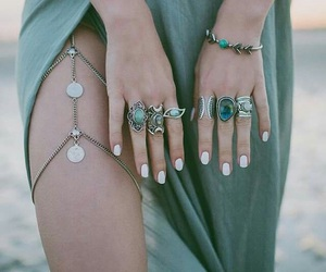 chains, nails, and green image