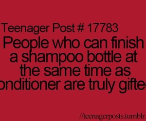 teenager post and shampoo image
